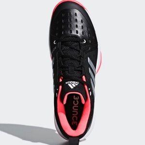 EUC Adidas Bounce pink black athletic shoes 12
